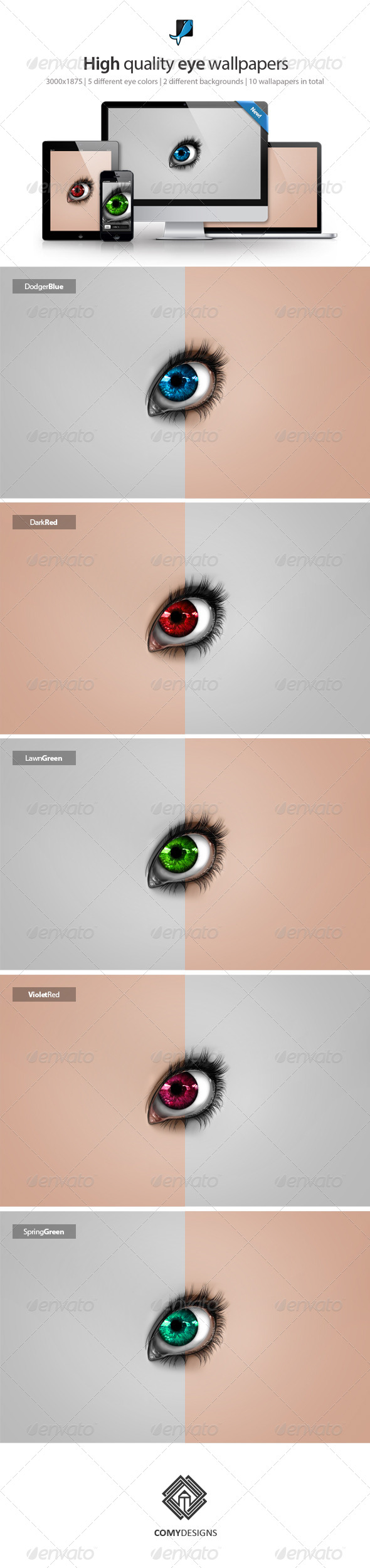 GraphicRiver Eye Wallpaper Backgrounds 5904000