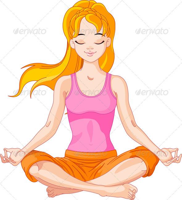 GraphicRiver Yoga Girl 5940930