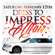 Dress to Impress White Affair | Flyer + FB Cover - GraphicRiver Item for Sale