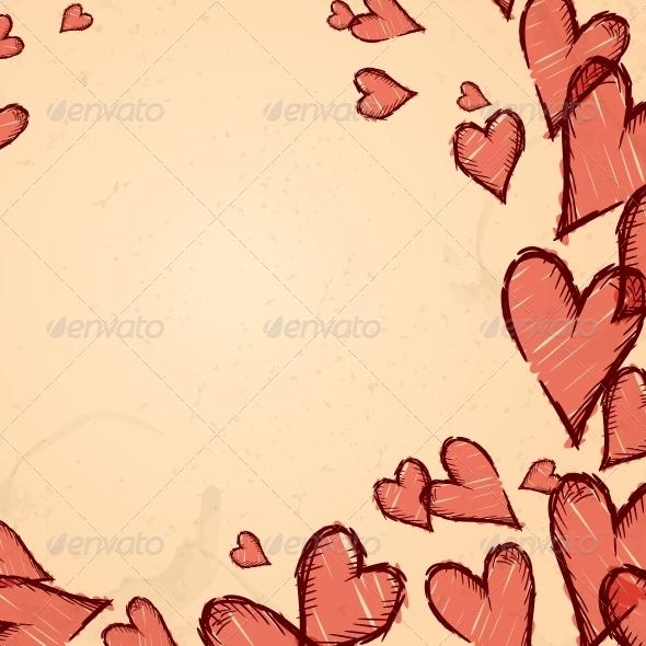 GraphicRiver Grunge Heart Background 5942273
