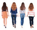 Back view of walking group of woman - PhotoDune Item for Sale
