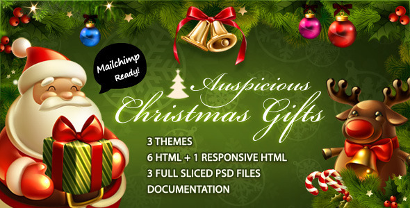 Auspicious Christmas Gifts - Email Templates Marketing