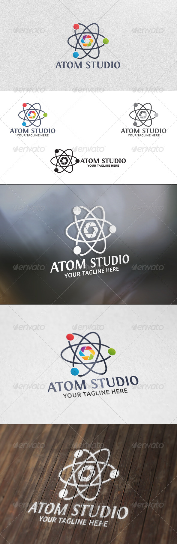 GraphicRiver Atom Studio Logo Template 5944649
