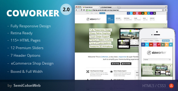CoWorker - Responsive Multipurpose Template - Corporate Site Templates