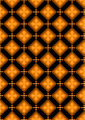 Orange Flowers in Brown Rhombuses  - PhotoDune Item for Sale