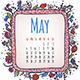 May Illustrated Calendar - GraphicRiver Item for Sale