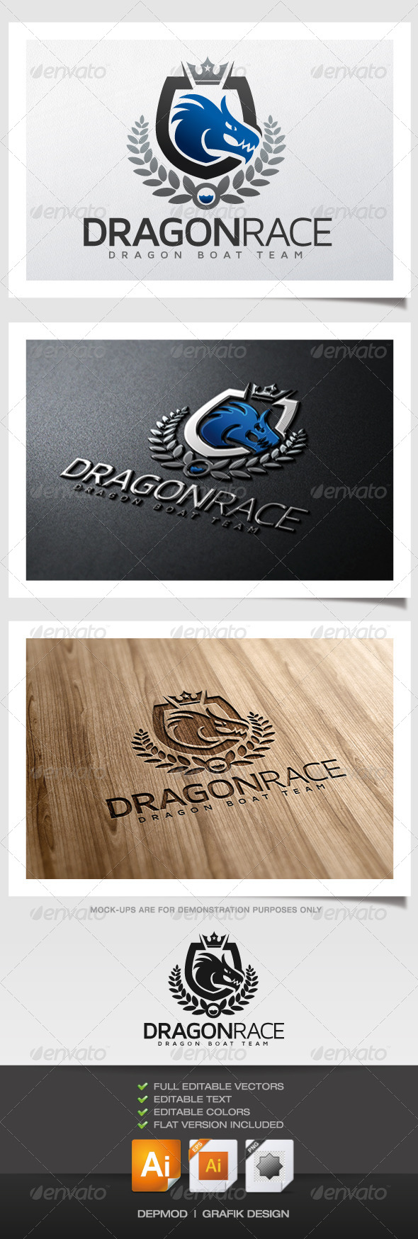 GraphicRiver Dragon Race Logo 5945732