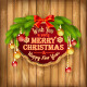 Vector Christmas Garland Frame Balls Background - GraphicRiver Item for Sale