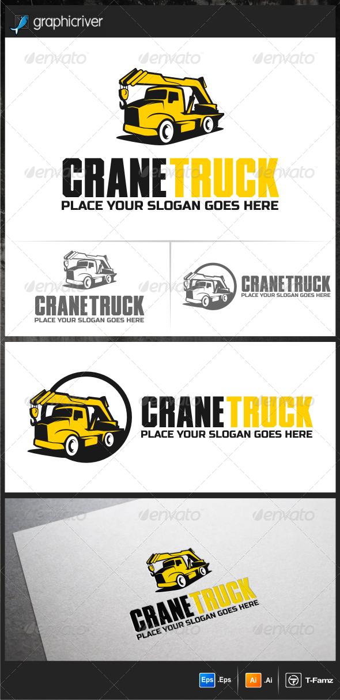 GraphicRiver Crane Truck Logo Templates 5946751