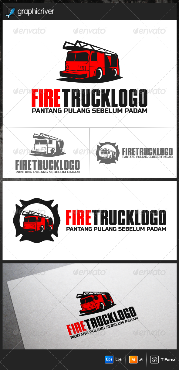 GraphicRiver Fire Truck Logo Templates 5946830