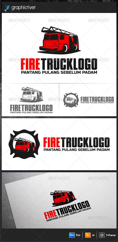 GraphicRiver Fire Truck Logo Templates 5946830