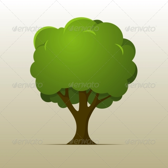 GraphicRiver Cartoon Tree 5946962