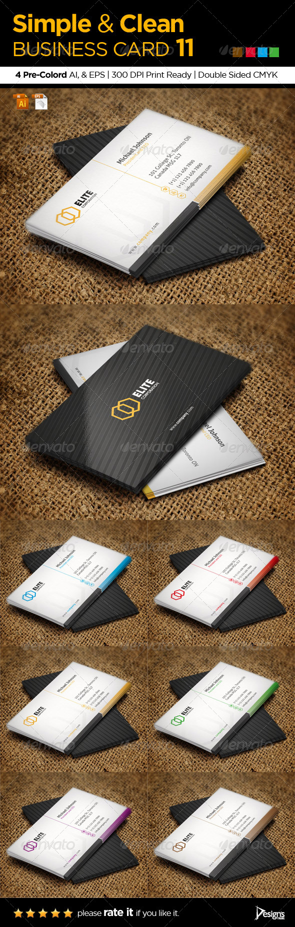 GraphicRiver Corporate Clean Business Card 1 5948267