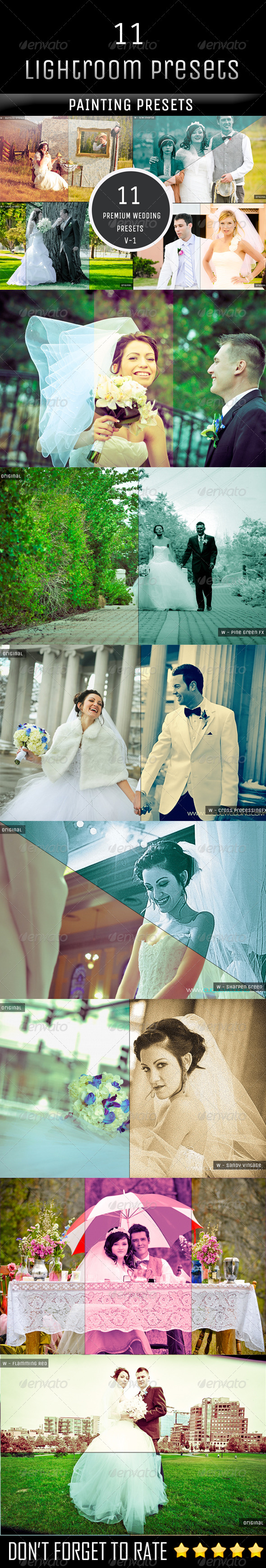 GraphicRiver 11 Premium Wedding Photography Presets 5948455