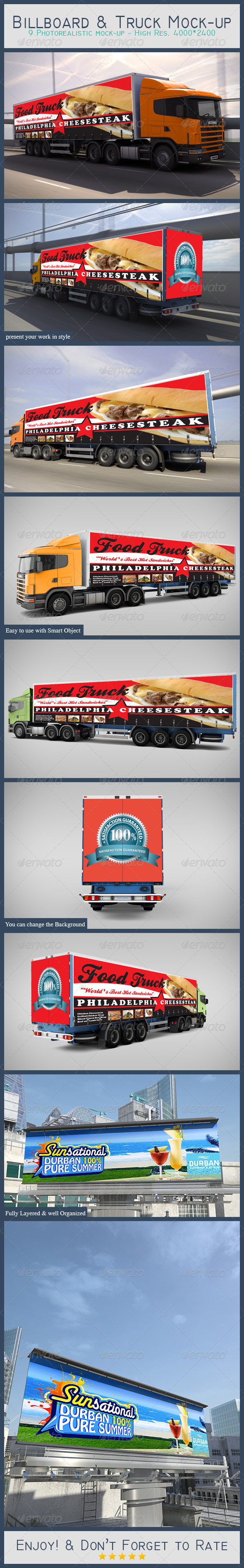 Billboard & Truck Mock-up - Print Product Mock-Ups