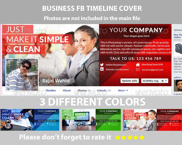GraphicRiver Multipurpose Business FB Timeline 5949582