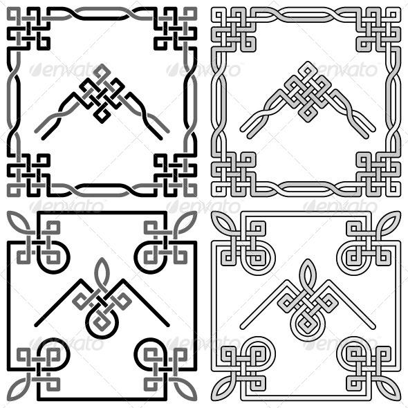 GraphicRiver Celtic Knots Corners Set 5950249