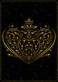 Gold Openwork Pattern in the Form of Heart - PhotoDune Item for Sale