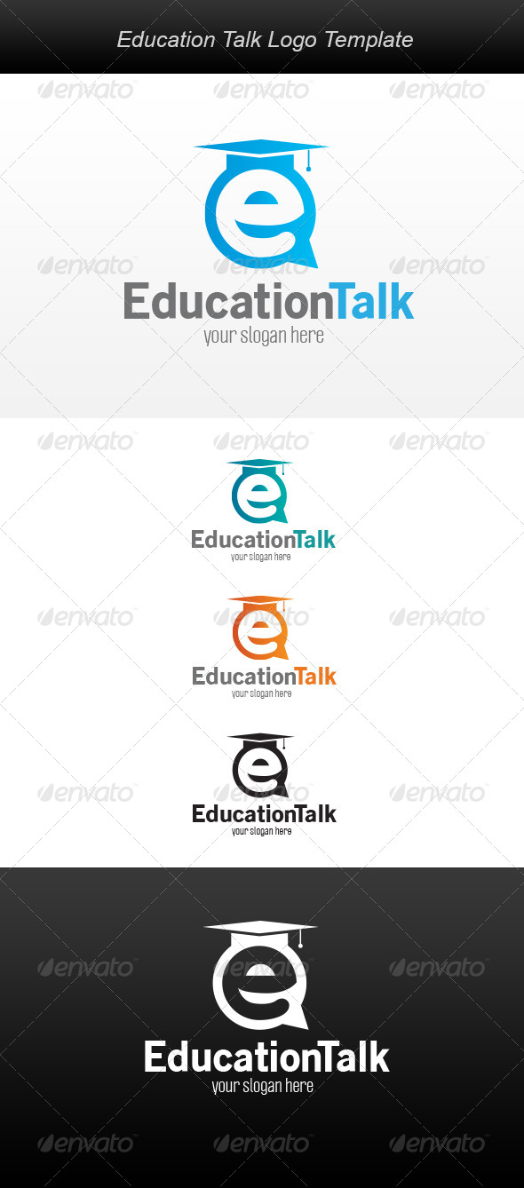 GraphicRiver Education Talk Logo 5952728