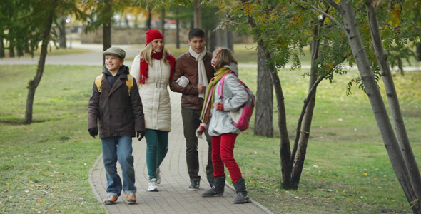 VideoHive Family Walking 5953711