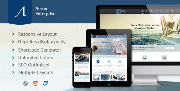 Aeron - Simple WordPress Theme