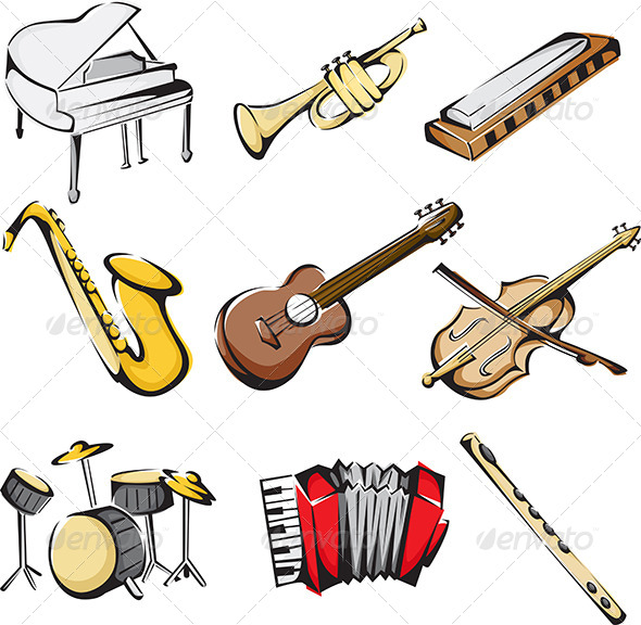 GraphicRiver Musical Instruments Icons 5954266