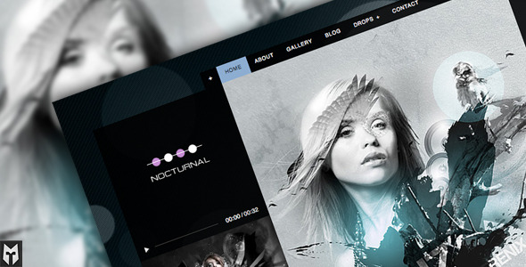 Nocturnal: Premier Audio WP Theme
