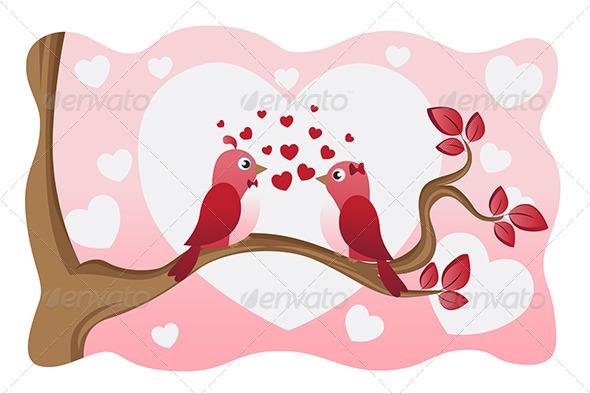 GraphicRiver Love Birds 5954371
