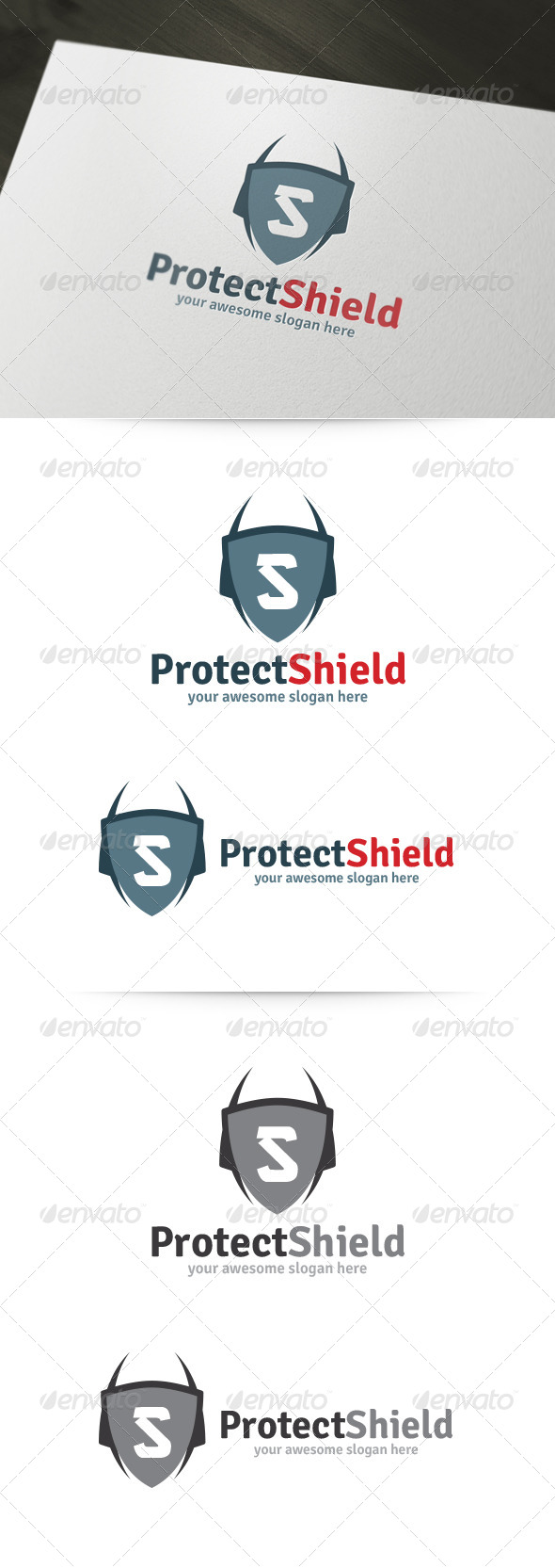 GraphicRiver Protect Shield Logo 5954417