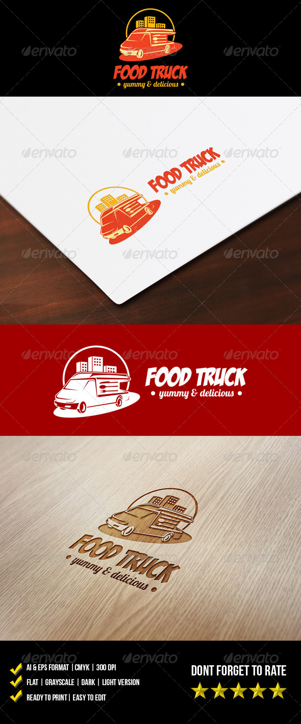 GraphicRiver Food Truck Logo 5954453