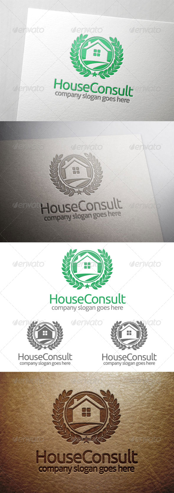 House Consult Logo - Buildings Logo Templates