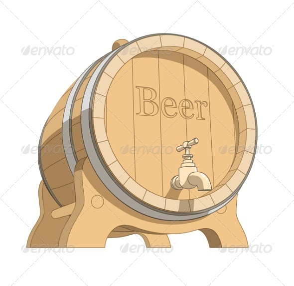 GraphicRiver Wooden Tun with Beer 5954948
