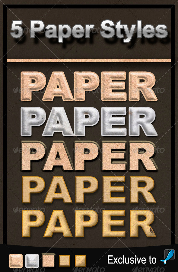 GraphicRiver Paper Text Styles 5956482