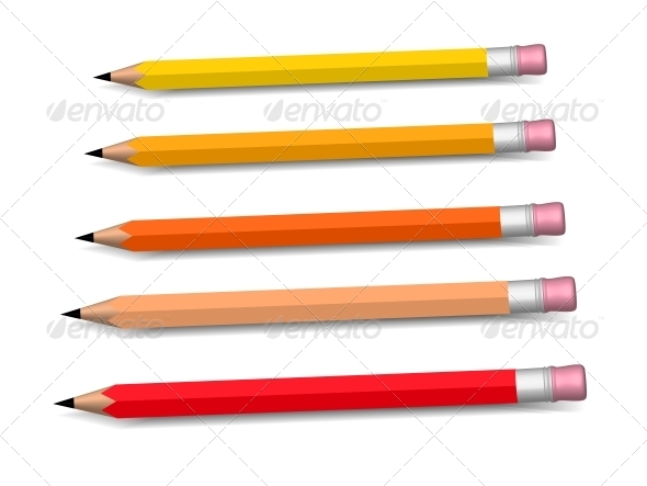 GraphicRiver Multicolored Pencils Growing Row 5956948
