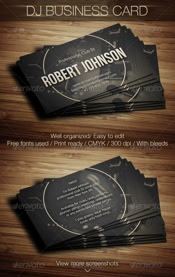 GraphicRiver DJ Business Card 5933852