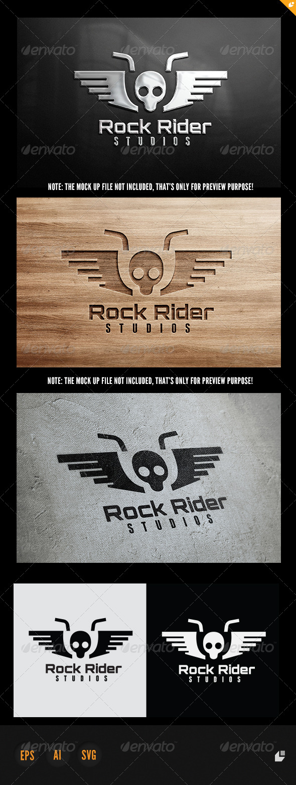 GraphicRiver Rock Rider Logo 5957376
