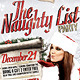 The Naughty List Party Flyer - GraphicRiver Item for Sale