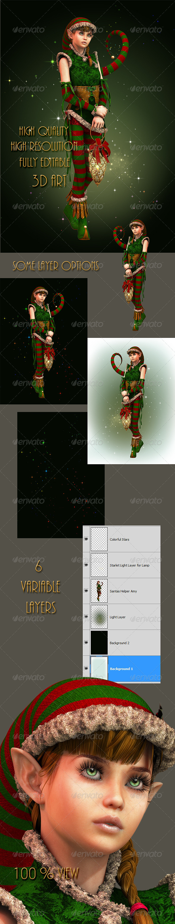 GraphicRiver Santas Little Helper Amy 5958716