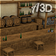 Tavern Inn Scene with Hand-painted Texture Style - 3DOcean Item for Sale