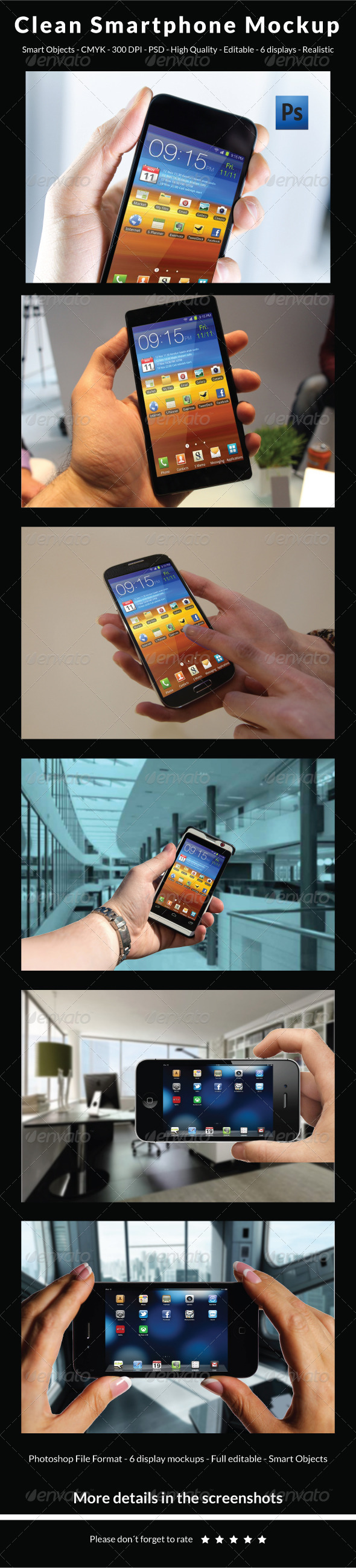 GraphicRiver Clean Smartphone Mockup 5959778