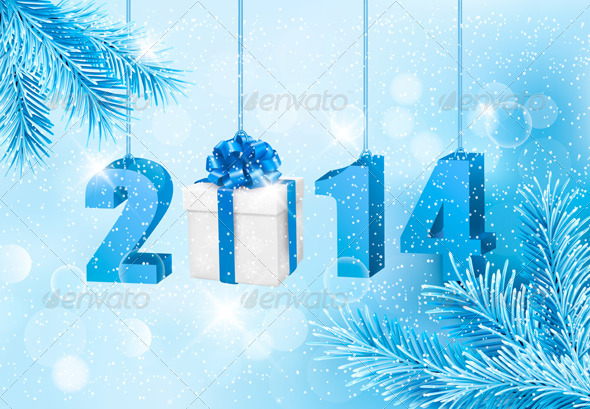 GraphicRiver Happy New Year 2014 Design Template 5959971
