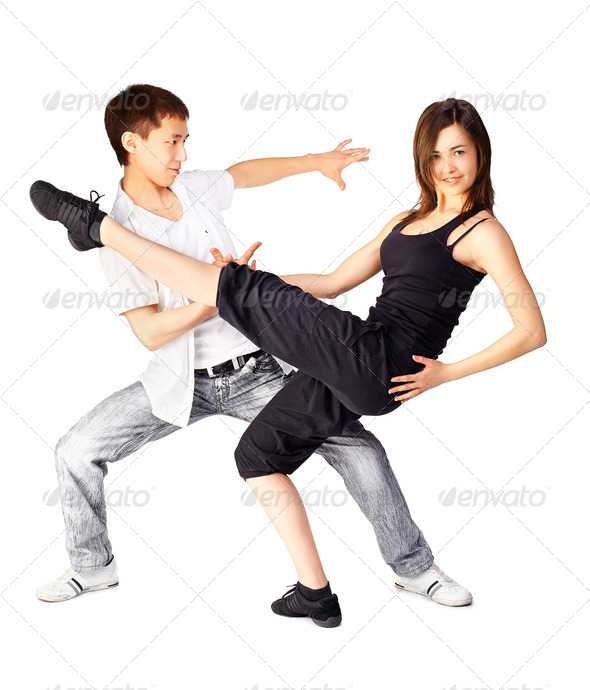 hustle dancers - Stock Photo - Images