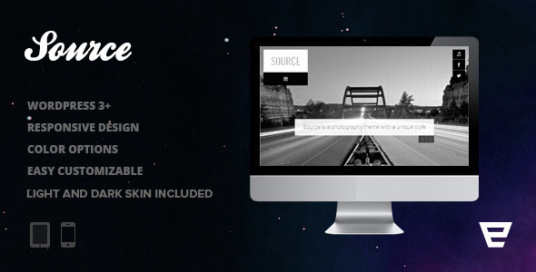 Source - Responsive Photography WordPress Theme - Photography Creative