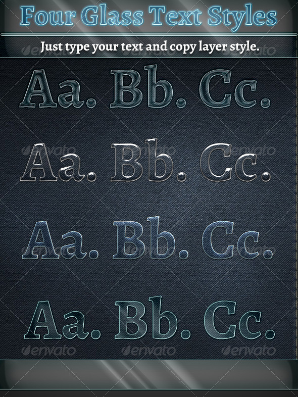 GraphicRiver Glass Text Styles 5960575