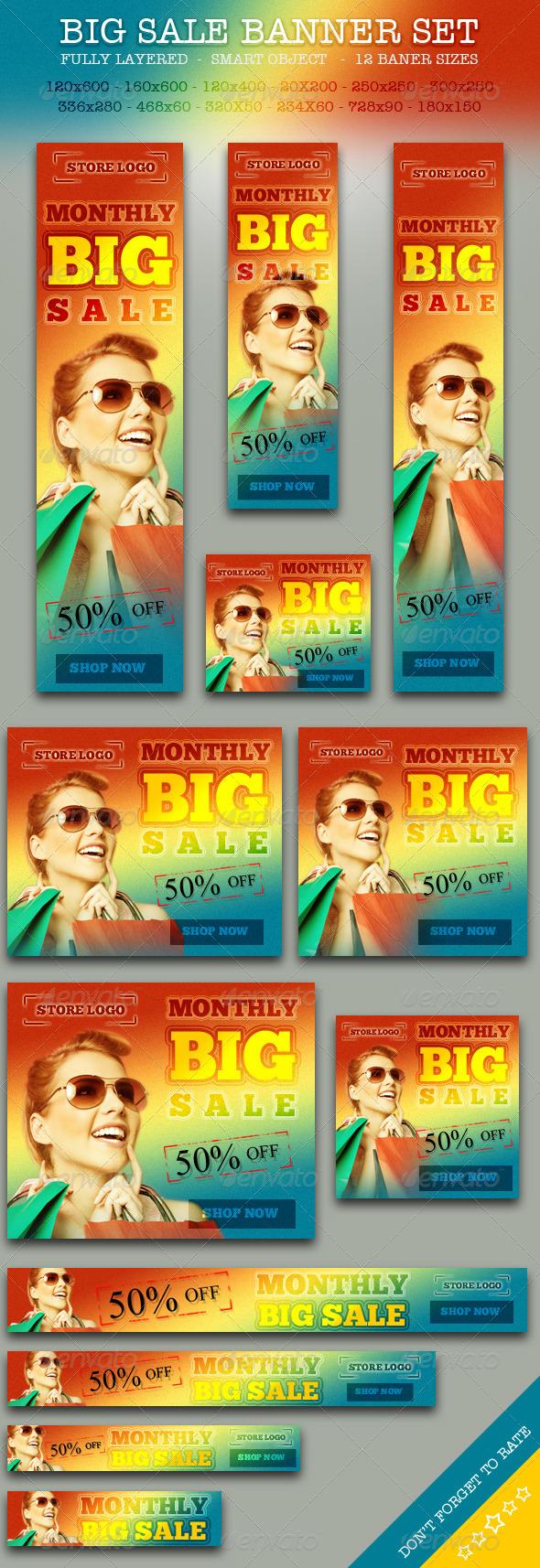 GraphicRiver BIG Sale Promotion Online Store Banner ad Set 5961518