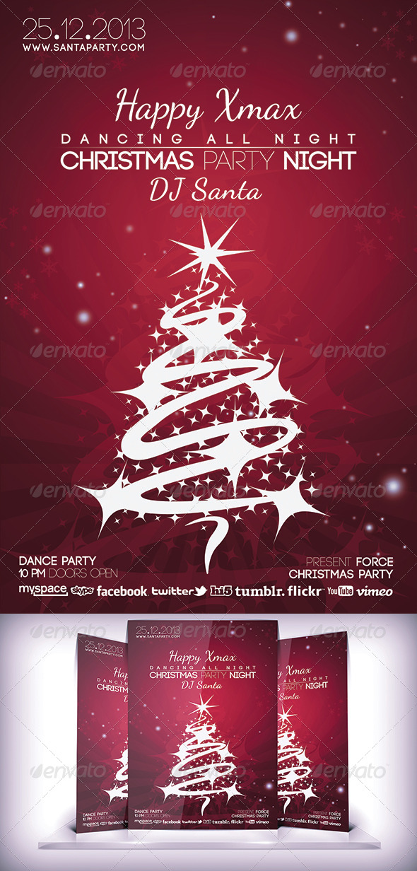 GraphicRiver Christmas Night Flyer 5961750