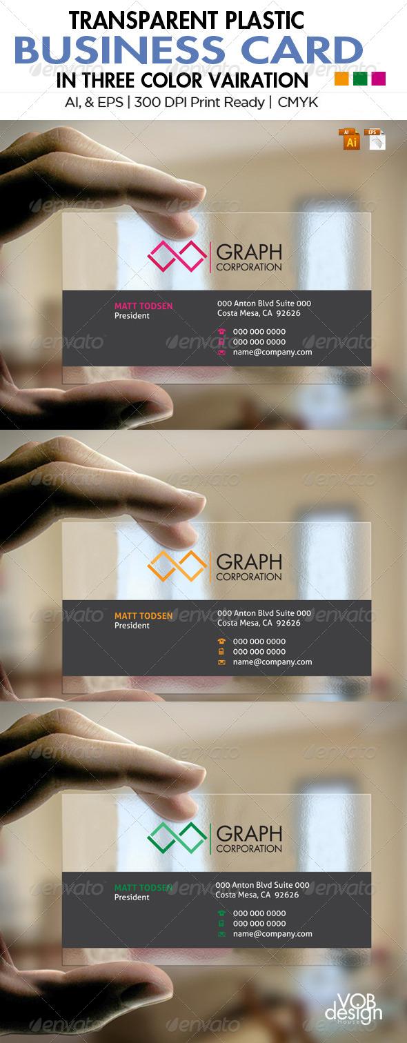 GraphicRiver Transparent Business Card 1 5961830