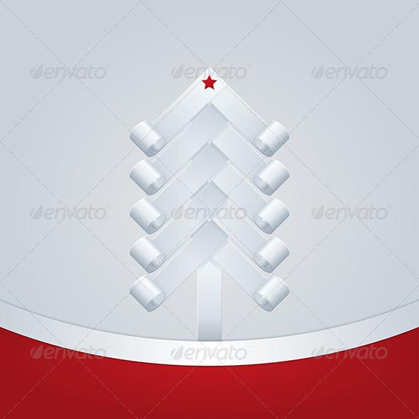 GraphicRiver Fir-Tree Christmas Greeting Card 5961849
