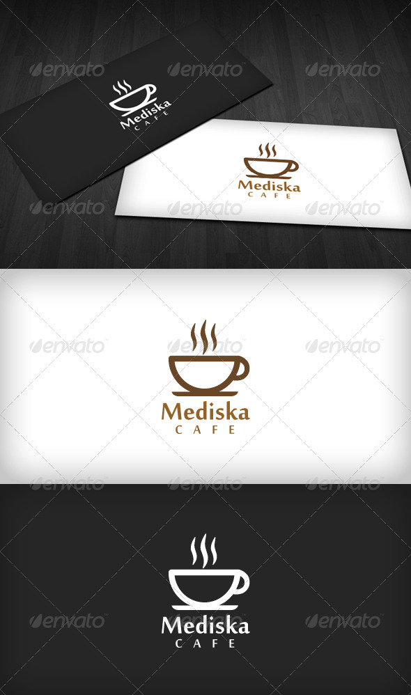 Mediska Cafe Logo - Food Logo Templates