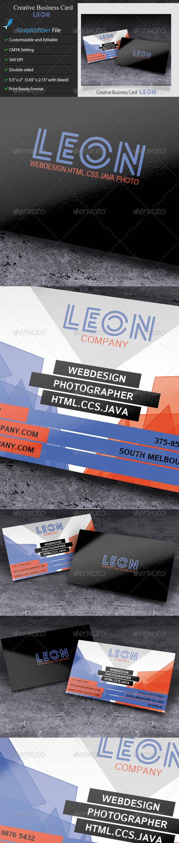 GraphicRiver Creative Business Card Leon 5962472